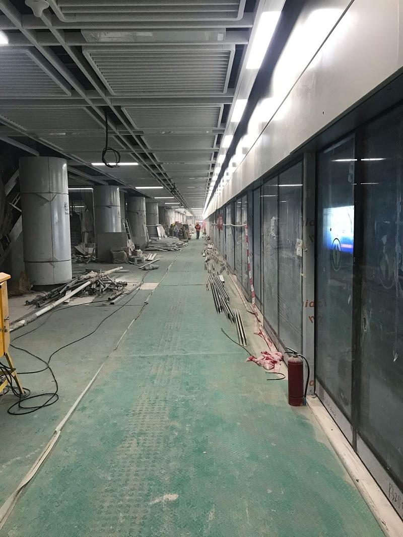 深圳地铁6号线用亮豹无机涂料