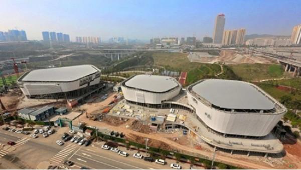 渝北区全民健身中心—亮豹无机涂料工程案例