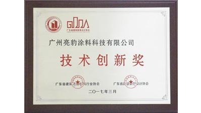 亮豹荣获技术创新奖证书